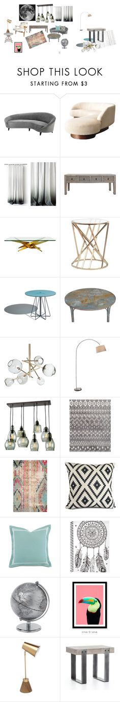 """Moon Inspired"" by gena-june on Polyvore featuring interior, interiors, interior design, home, home decor, interior decorating, Eichholtz, Regina-Andrew Design and Barclay Butera"