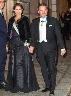 Princess Madeleine and her husband Chris O'Neil.  Sweden Royals attend the formal gathering of the Swedish Academy