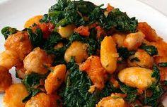 Bean, Spinach and Sausage Casserole Sausage Casserole, Greek Cooking, Greek Recipes, Tandoori Chicken, Allrecipes, Tapas, Spinach, Beans, Diet