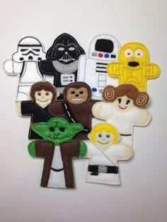 Star Wars Finger Puppets-You choose! on Etsy, $3.00