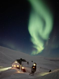 The aurora borealis in Swedish Lapland