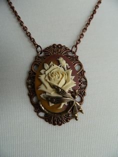 Autumn Dragonfly Necklace by Changing by ChangingSeasonsGifts, $35.00
