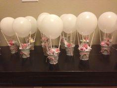 lembrancinhas em forma de balão de ar - idéias para centro de mesa
