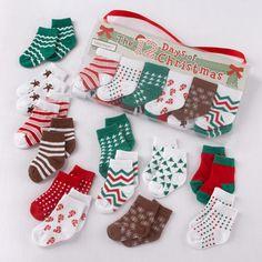 12 Days of Christmas Baby Socks! Precious!!