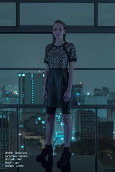 Metropolis  Bloginvoga Exclusives Photographer: Felipe Martí  Fashion Stylists: Mauricio Mariano & Alessandro Lazaro  Beauty Artist: Renner Souza  Model: Sabrina Geib  Photographer Assistants: Juliano Metz & Leonardo Menegueti