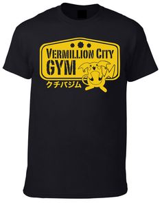 Pokemon Anime inspired Vermillion Gym T-Shirt - Available in Men's and Women's