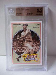 1992 Upper Deck Ted Williams Heroes BGS Graded Gem Mint 9.5 Baseball Card #30 #BostonRedSox