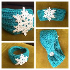 FROZEN Inspired Ear Warmer  -MADE TO ORDER, This Crochet ear warmer is made with soft sparkly yarn and meant to cover your ears & fit nice around