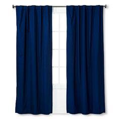Twill Light Blocking Curtain Panel Navy - Pillowfort™ : Target