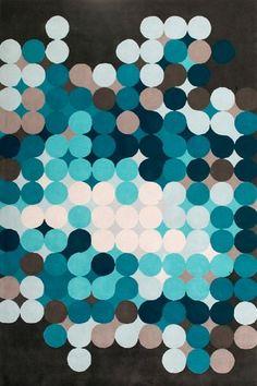 Optropic - Blueandbrown rug