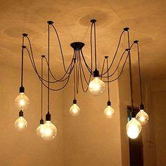 Lampadario Sospensione Edison Vintage a 10 fili con portalampada E27 colore nero satinato Underground Vintage Lamps http://www.amazon.it/dp/B016BIFVA8/ref=cm_sw_r_pi_dp_5zFSwb0XPJ4KE