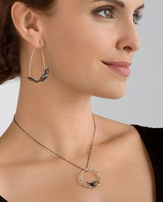 Black+Bird+Collection by Lisa+Cimino: Earrings+and+Necklace available at www.artfulhome.com