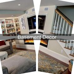 Modern Basement | Easy Basement Finishing | Rustic Basement Designs