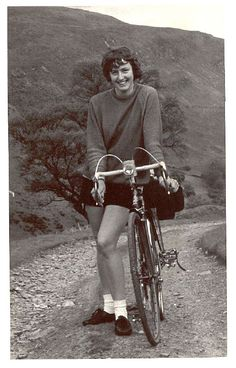 Mary on the Wayfarer's Pass in the Berwyns Mountians, Wales 1972(via)