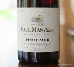Paul Mas Estate Pinot Noir Saint Hilaire Vineyard - Down To Earth Pinot Noir Wine, Wine Auctions, Wine Reviews, Wine Collection, Expensive Wine, Growing Grapes, Wine List, Shipping Wine, Wine