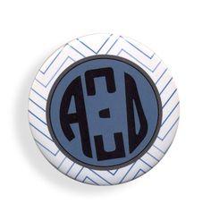 Alpha Xi Delta Chevron Monogram Button from GreekGear.com