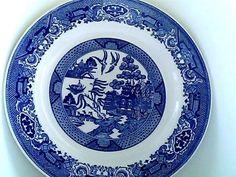 Royal China Royal Ironstone blue willow plate.
