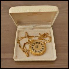 BUCHERER [Swiss] Vintage Pendant HW Watch Original Box Free Shipping Worldwide