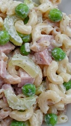 Macaroni Salad with Ham, Peas and Dill
