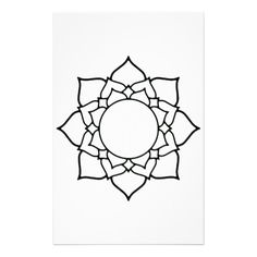 Gallery For > Lotus Flower Mandala Outline