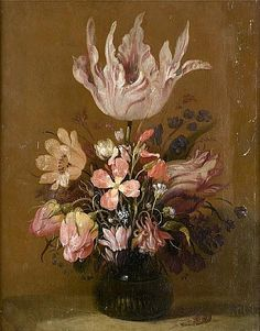 Hans Bollongier (Haarlem 1600-circa 1675) Tulips, roses and other flowers