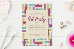 Art Party Invitation by ClementineCreative on @creativemarket