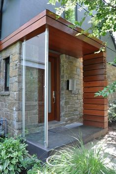 And just as traditional designs can have a vestibule-like transition space on the outside, so too can modern designs.