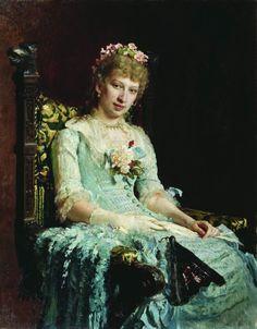 1881 Ilya Repin - Portrait of a woman