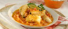 "Receita de ""Cataplana"" de bacalhau. Descubra como cozinhar ""Cataplana"" de bacalhau de maneira prática e deliciosa com a Teleculinaria!"