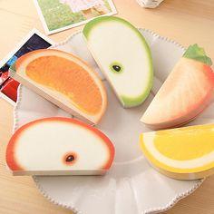 Fruit Vegetable Note Pad Memo Sticky - 15 Shape