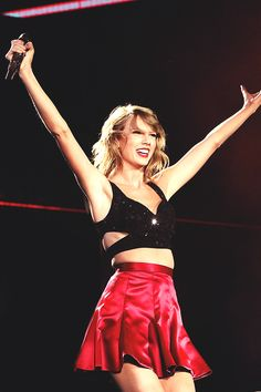 1989 Tour--- I don't think we've ever seen Taylor happier than she is now, and that means so much. <3