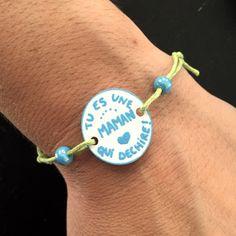 Bracelet Fête des Mères  Tu es une maman qui déchire  Bricolage DIY La Baleine Bleue