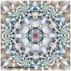 Flower of Life Mandala 1=Mandala Monday - Flower of Life Mandalas Part 1 - http://go.shr.lc/1zrZoC9 - © Atmara Rebecca Cloe and New World Creations -  Purchase prints and gifts at http://www.zazzle.com/New_World_Creations?rf=238526469533245868