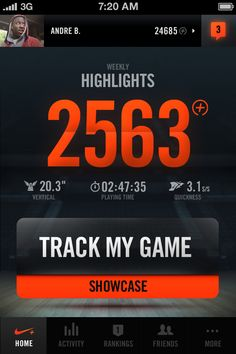 #Nike+ Basketball by Jordan Fripp, via #Behance #Mobile