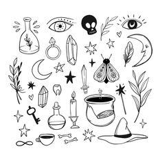 Doodle Tattoo, Diy Tattoo, Doodle Drawings, Art Drawings Sketches, Tattoo Sketches, Easy Drawings, Doodle Art, Tattoo Drawings, Cute Tattoos