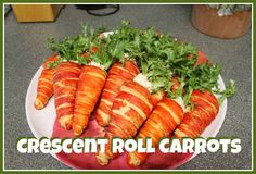 Hungry Happenings: Fun idea for an Easter Brunch - Carrot Crescents Filled with Egg Salad