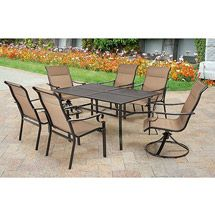 walmart patio dining sets Harper 7 Piece Outdoor Patio Dining Set, Seats 6 | Walkout/Pool  walmart patio dining sets
