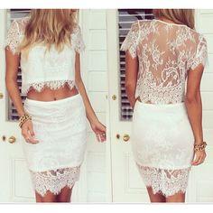 Basically what I want meme I make me-- Doilies Two Piece Dress