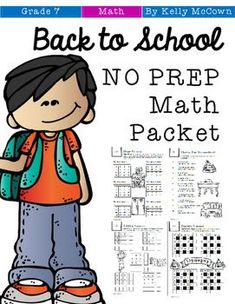 Ready for back to school? Kids love these math printables, puzzles, and games. Perfect for the 1st month of school. Designed for seventh graders in middle school with review of expressions, equations, decimals, and much more. Grab your 7th grade math activities packet today! Back To School Kids, Back To School Activities, Math Activities, Middle School, 7th Grade Classroom, 7th Grade Math, Math Lesson Plans, Math Lessons, Secondary Math