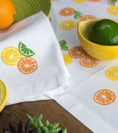 How To Make  Summer Citrus Linens