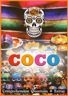 """This 14 page movie guide with handouts accompanies the film """"Coco (2017)"""". Steeped in Mexican culture and folklore, the movie follows young Miguel whose dreams of becoming a musician are hampered by his family's ban on music. Magically entering the Land of the Dead, Miguel embarks on an extraordinary journey to unlock the real story behind his family history."""