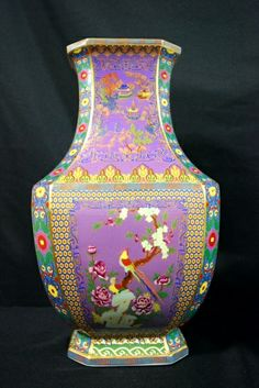 A Magnificent Imperial Famille Rose Vase  H: 47cm  Yongzheng mark and period