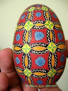 Pysanka.  Ukrainian Art Form. Pysanky Easter Eggs. Goose egg pysanka by Arsen Romanyuk