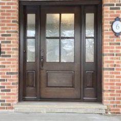 Side Light Entry Doors | Amberwood Doors Inc. Modern Wooden Doors, Wooden Main Door Design, Home Styles Exterior, Exterior Design, Entry Doors, Front Doors, Double Doors Exterior, New Homes, Farmhouse Front