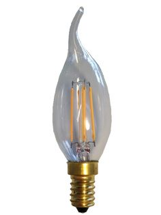 Filament Led Tip Kaars 2w/25w E14 Helder extra warm licht (NIET DIMBAAR)