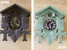 Cuckoo Clock Makeover | The Lettered Cottage. Don't know what happened to the cuckoo clock my parents had while I was growing up, but I wish I had it now.