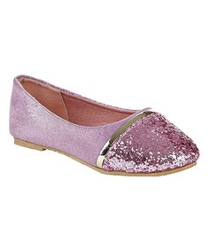 Look at this Pink Metallic Glitter Flat on #zulily today!