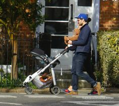 Jamie Dornan with wife Amelia and baby Dornan  out in London