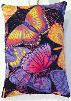 Butterfly Gift / Butterfly Fabric Lavender Bag - Handmade