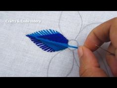 Hand Embroidery, Modern Flower Embroidery, Easy Flower Design - Free Online Videos Best Movies TV shows - Faceclips Hand Embroidery Flower Designs, Hand Embroidery Videos, Hand Embroidery Tutorial, Hand Embroidery Stitches, Ribbon Embroidery, Machine Embroidery Designs, Embroidery Art, Hand Stitching, Col Crochet